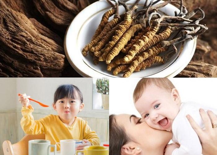 Trẻ em từ 13 tuổi trở nên mới nên dùng đông trùng hạ thảo